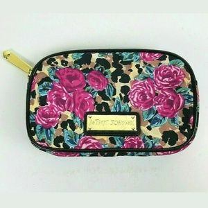 Betsey Johnson Floral Cosmetic Make Up Bag